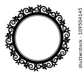 flower and butterfly circle... | Shutterstock .eps vector #109504145