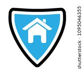 shield and house  logo concept | Shutterstock .eps vector #1095046355