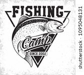 fishing club vintage logo... | Shutterstock .eps vector #1095048131