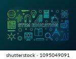stem education vector colored... | Shutterstock .eps vector #1095049091