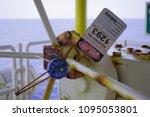 gas process valve isolation...   Shutterstock . vector #1095053801