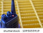 walkie talkie or portable radio ... | Shutterstock . vector #1095055919