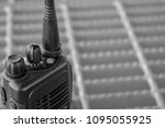 walkie talkie or portable radio ... | Shutterstock . vector #1095055925