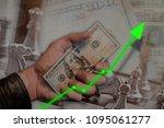 stock market investment graph...   Shutterstock . vector #1095061277