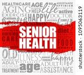 senior health word cloud...   Shutterstock .eps vector #1095063119