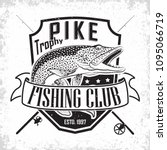 fishing club vintage logo... | Shutterstock .eps vector #1095066719