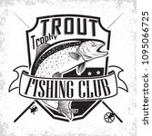 fishing club vintage logo... | Shutterstock .eps vector #1095066725