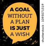 inspirational quote. a goal... | Shutterstock .eps vector #1095071519