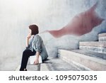 power  success and leadership... | Shutterstock . vector #1095075035