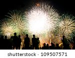 Fireworks And Spectator