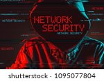 network security concept with...   Shutterstock . vector #1095077804