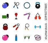 solid vector ixon set   barbell ... | Shutterstock .eps vector #1095077885