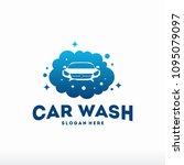 car wash logo designs concept... | Shutterstock .eps vector #1095079097