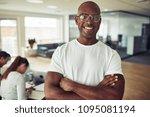 smiling african businessman... | Shutterstock . vector #1095081194