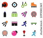 solid vector ixon set   target... | Shutterstock .eps vector #1095081365