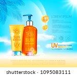 vector illustratin. 3d bottles  ... | Shutterstock .eps vector #1095083111