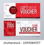 gift voucher design template.... | Shutterstock .eps vector #1095084557