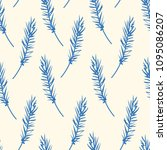 vintage seamless pattern with... | Shutterstock .eps vector #1095086207