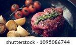 cooking a fillet steak food... | Shutterstock . vector #1095086744