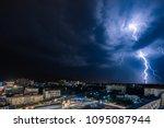 night city view under... | Shutterstock . vector #1095087944