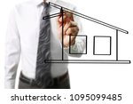 hand drawing a house | Shutterstock . vector #1095099485