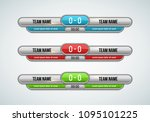 sport scoreboard with time and... | Shutterstock .eps vector #1095101225