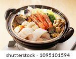 japanese seafood hot pot   Shutterstock . vector #1095101594