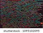 closeup of java script  css and ... | Shutterstock . vector #1095102095