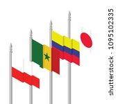 poland  colombia  senegal ... | Shutterstock .eps vector #1095102335