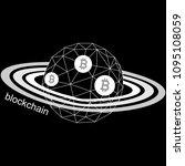 blockchain technology on the...   Shutterstock .eps vector #1095108059