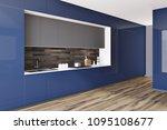 blue glossy kitchen countertops ... | Shutterstock . vector #1095108677