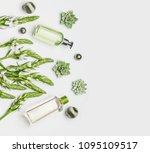green herbal natural cosmetic... | Shutterstock . vector #1095109517
