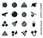 set of simple vector isolated... | Shutterstock .eps vector #1095113489
