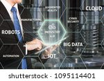 businessman with 4.0 technology.... | Shutterstock . vector #1095114401