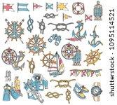 yacht image illustration  i... | Shutterstock .eps vector #1095114521