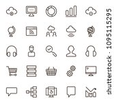 seo icon set. collection of...   Shutterstock .eps vector #1095115295