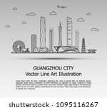 line art vector illustration of ... | Shutterstock .eps vector #1095116267