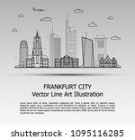 line art vector illustration of ... | Shutterstock .eps vector #1095116285