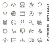 seo icon set. collection of...   Shutterstock .eps vector #1095116615
