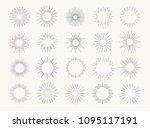 neon sunburst set colorfulstyle ...   Shutterstock .eps vector #1095117191