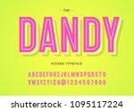 vector dandy modern typeface.... | Shutterstock .eps vector #1095117224