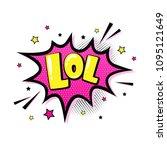 lol. comic speech bubble in pop ... | Shutterstock .eps vector #1095121649