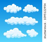 cartoon cloud set isolated on... | Shutterstock .eps vector #1095122954