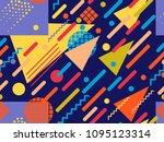 memphis seamless pattern....   Shutterstock .eps vector #1095123314