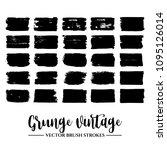 set of black brush stroke and...   Shutterstock .eps vector #1095126014