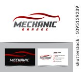 mechanic logo and business card ... | Shutterstock .eps vector #1095129239