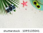 Beach Background.  Top View Of...