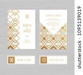 luxury wedding invitation or...   Shutterstock .eps vector #1095139019