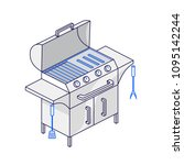 electric or gas grill on three...   Shutterstock .eps vector #1095142244