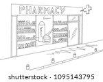 pharmacy store shop exterior... | Shutterstock .eps vector #1095143795